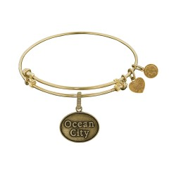 Brass with Yellow Ocean City Charm Angelica Bangle