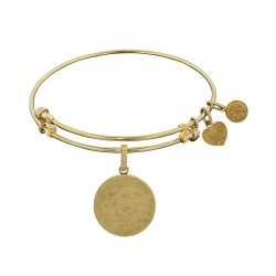 Brass with Yellow Round Engravable Charm For Angelica Bangle
