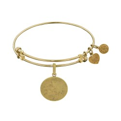 Brass with Yellow Oval Engravable Charm For Angelica Bangle