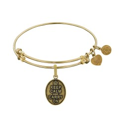 Brass with Yellow Keep Calm Charm For Angelica Bangle