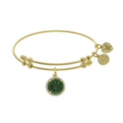 Brass with Yellow May Birthstone On Yellow Bangle