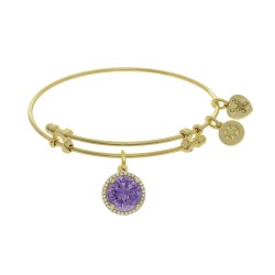 Brass with June Birthstone On Yellow Angelica Bangle