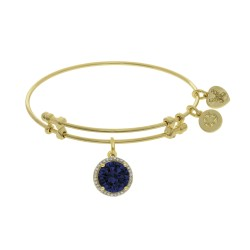 Brass with September Birthstone On Yellow Angelica Bangle