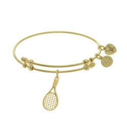 Brass with Yellow Tennis Raquet Charm On Yellow Angelica Bangle