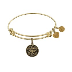Brass Yellow Supernatural Saving People, Hunting Thing Charm For Angelica Bangle