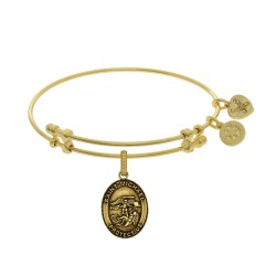 Brass with Yellow Finish St.Michael Charm for Angelica Bangle