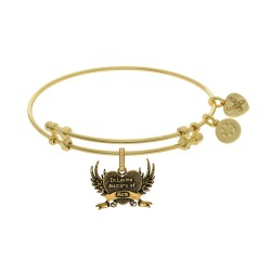Brass with Yellow Finish In Loving Memory of Mom Charm for Angelica Bangle