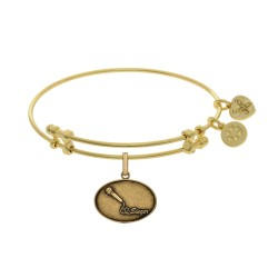 Brass with Yellow Finish Singer Charm for Angelica Bangle
