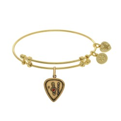 Brass with Yellow Finish I Love Music Enamel Charm for Angelica Bangle