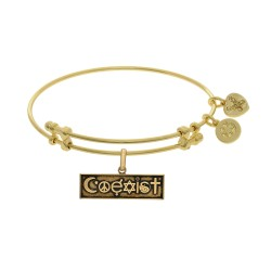 Brass with Yellow Finish Coexist Charm for Angelica Bangle