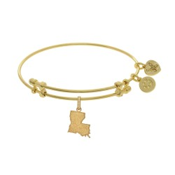 Brass with Yellow Finish Louisiana Charm for Angelica Bangle