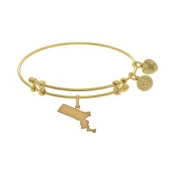 Brass with Yellow Finish Massachusetts Charm for Angelica Bangle