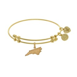 Brass with Yellow Finish North Carolina Charm for Angelica Bangle