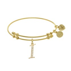 Brass with Yellow Finish  Initial I Charm for Angelica Bangle