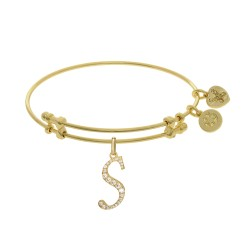Brass with Yellow Finish  Initial S Charm for Angelica Bangle