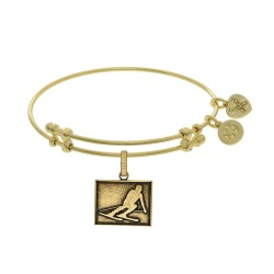 Brass with Yellow Finish Skier Angelica Bangle