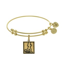 Brass with Yellow Finish Marathon Runner Angelica  Bangle