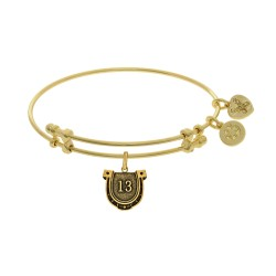 Brass with Yellow Finish Lucky 13 Angelica Bangle