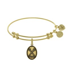 Brass with Yellow Finish Lacrosse Angelica Bangle