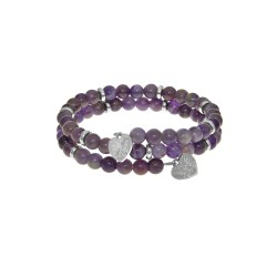 Amethyst - Small Bangle - 50 mm Diameter with Bras S Elements