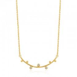 Shimmer Solid Bar Stud Necklace