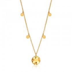 Ripple Drop Discs Necklace
