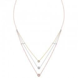 14K Tri Color Diamond Pendant  1/3Cttw