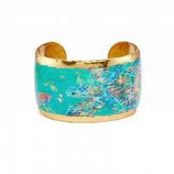 Green Mosaic Sea Turtle Cuff