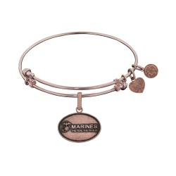 Brass with Pink Finish U.S. Marines The Few. The Proud. Angelica Bangle