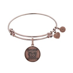 Brass with Pink Finish Friends 20Th Anniversary Angelica Bangle