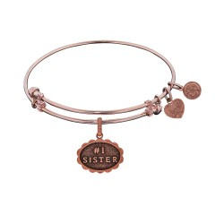 Brass with Pink Finish #1 Sister Charm For Angelic A Bangle