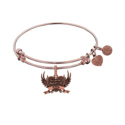 Brass with Pink Finish In Loving Memory Of Mom Cha Rm For Angelica Bangle