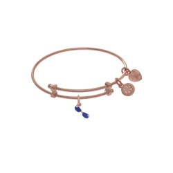 Brass with Pink Finish Charm On Pink Angelica Tween Bangle