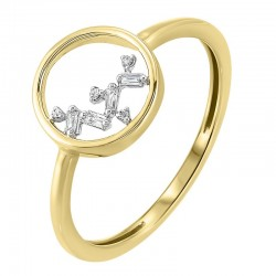 14K Yellow Gold Scattered Bagg Dia Ring    .03