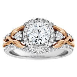 Round Diamond Halo Diamond Engagement Ring