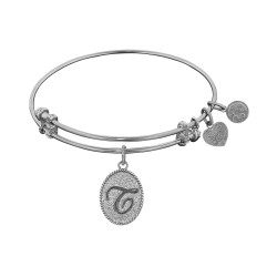 "Angelica Initial ""T"" Bangle"