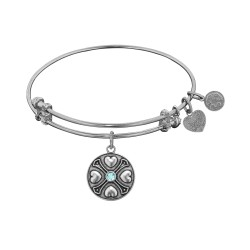Angelica March-Aquamarine Bangle