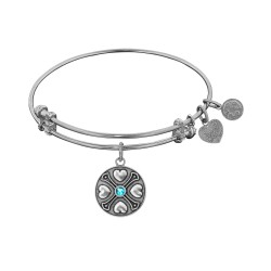 Angelica December-Blue Topaz Bangle