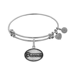 Brass with White Finish U.S. Marines The Few. The Proud. Angelica Bangle