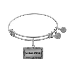 Brass with White Finish Friends Logo Design Angelica Bangle