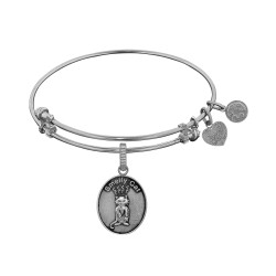 Brass with White Finish Friends Smelly Cat Angelica Bangle