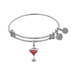 Brass with White Finish Enamel Umbrella Drink Charm For Angelica Bangle