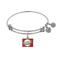 Brass with White Finish  Bazinga Charm for Angelica Bangle