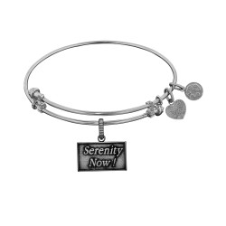 Brass White Seinfeld Serenity Now! Charm for Angelica Bangle