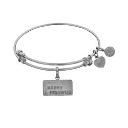 Brass White Seinfeld Happy Festivus Charm for Angelica Bangle