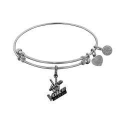 Brass White The Voice Microphone Charm for Angelica Bangle