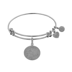 Brass with White Oval Engravable Charm For Angelica Bangle