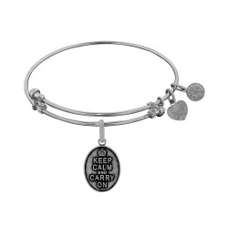 Brass with White Keep Calm Charm For Angelica Bangle