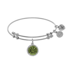 Brass with August Birthstone On White Bangle