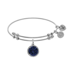 Brass with September Birthstone On White Angelica Bangle